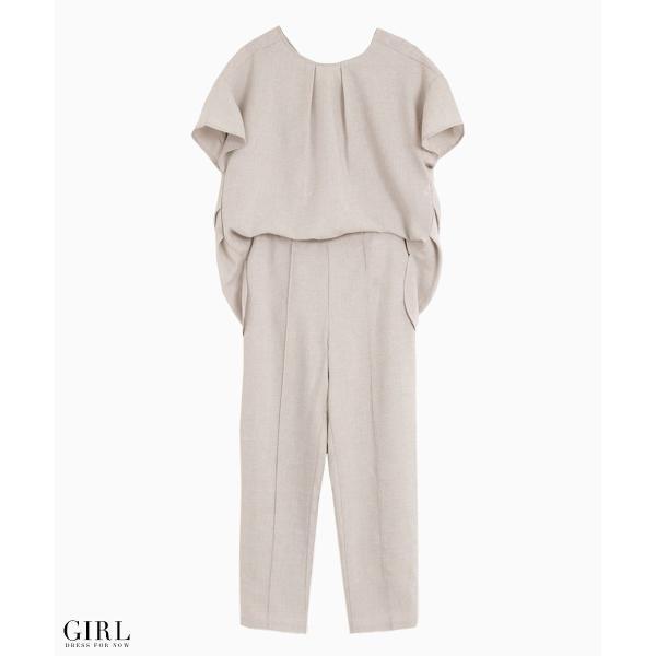 2/17まで 50%OFFクーポン利用で6990円 パーティードレス セットアップ パンツスタイル パンツドレス 結婚式 大きいサイズ ロング パンツ 2点セット|girl-k|11