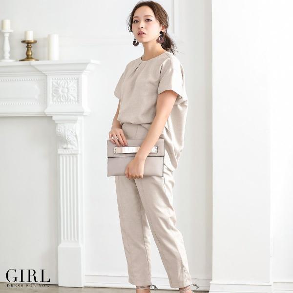 2/17まで 50%OFFクーポン利用で6990円 パーティードレス セットアップ パンツスタイル パンツドレス 結婚式 大きいサイズ ロング パンツ 2点セット|girl-k|13