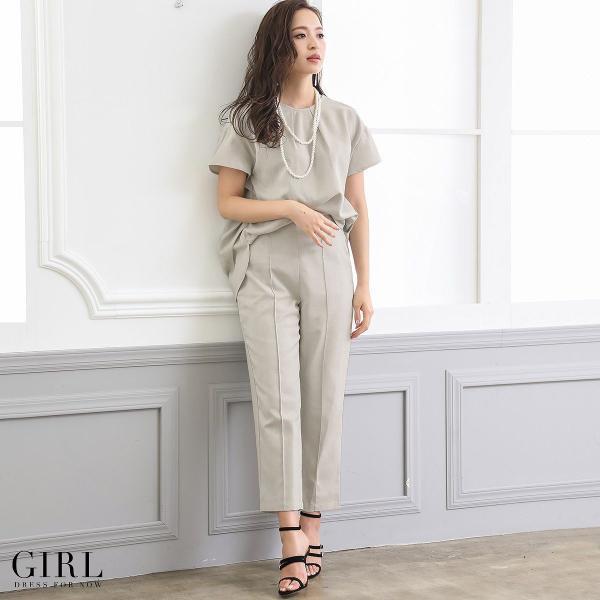 2/17まで 50%OFFクーポン利用で6990円 パーティードレス セットアップ パンツスタイル パンツドレス 結婚式 大きいサイズ ロング パンツ 2点セット|girl-k|15