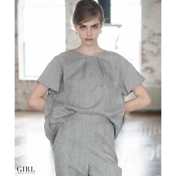 2/17まで 50%OFFクーポン利用で6990円 パーティードレス セットアップ パンツスタイル パンツドレス 結婚式 大きいサイズ ロング パンツ 2点セット|girl-k|06