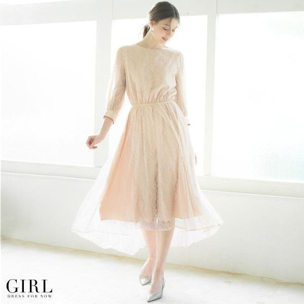 ドレス ワンピース パーティードレス 大きいサイズ お呼ばれ 他と被らない 30代 20代 結婚式 ドレス 二次会 ゲストドレス レディース モデル美香着用|girl-k|12