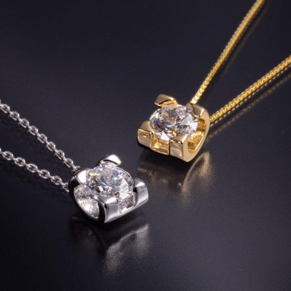 ネックレス スワロフスキー キュービックジルコニア ローズベルシア×ファンシーピンクネックレス CZダイヤモンド gisell 05