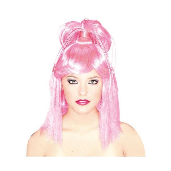 ハロウィン コスプレ かつら ウィッグ 衣装 仮装 GENIE WIG Pink 余興用かつら イベント|gita