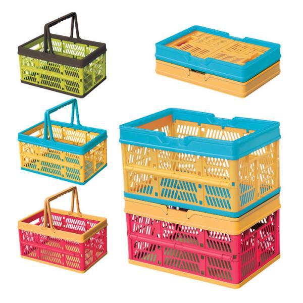 スタッチボックス 収納ボックス 折りたたみ 買い物カゴ 収納カゴ SSB-31 収納バケツ おもちゃ入れ ランドリーバスケット おしゃれ 洗濯かご