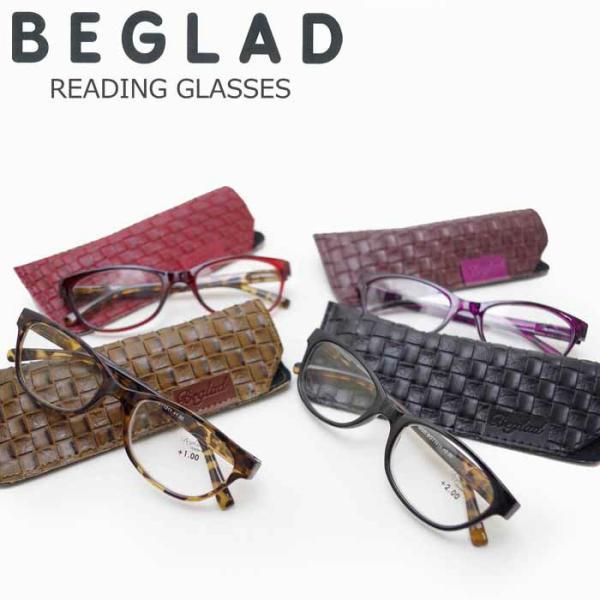 メール便 老眼鏡 女性 おしゃれ シニアグラス 度数 1.0 - 2.5 BGT1011 メガネケース付き 携帯用 リーディンググラス 眼鏡 エレガント