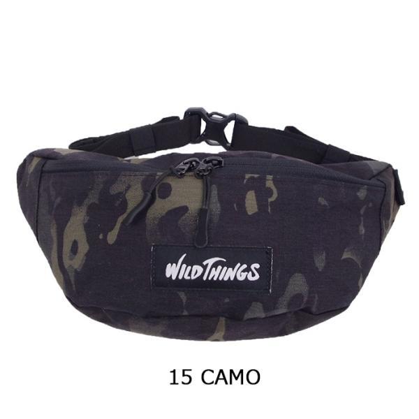 ワイルドシングス WILD THINGS ウエストポーチ メンズ ウエストバッグ 全8色 WT-380-0075 ボディバッグ ウエストポーチ X-PAC ナイロン メール便 送料無料