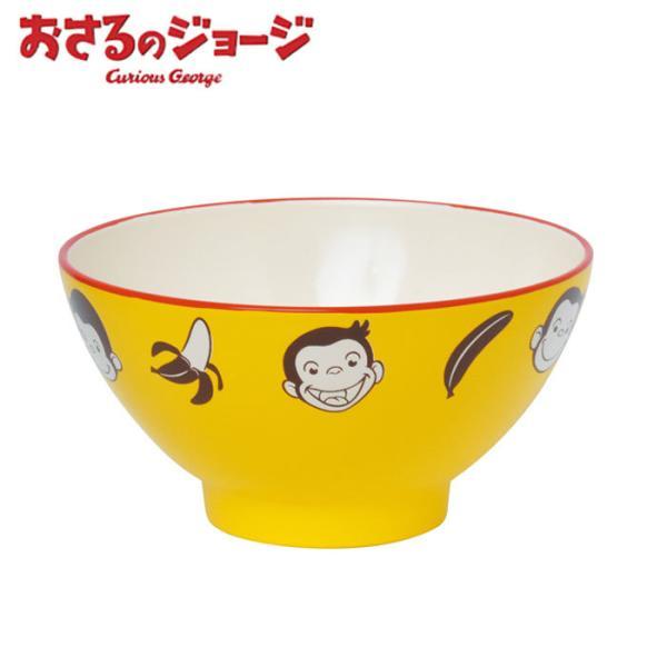 おさるのジョージ 茶碗 子供 塗茶わん キッズ 茶わん バナナ LIC-0204 子供 日本製 お茶碗 男の子 女の子 キャラクター 食器 電子レン