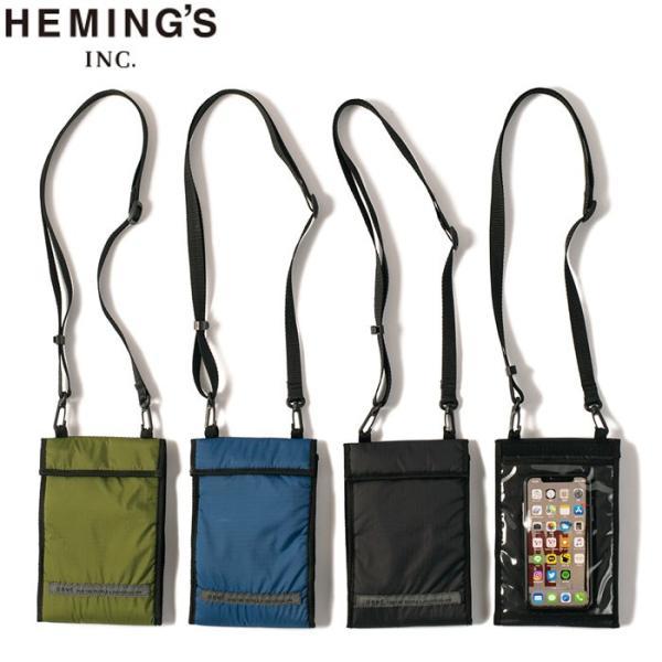 メール便 トラベル オーガナイザー バッグ Heming's ヘミングス 14509 ネックウォレット 旅行 首掛け 財布 スマートフォンポーチ 軽