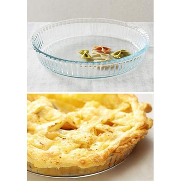 KINTO Bulkitchen ラウンドディッシュ グラタン皿 大皿 ガラス製 洋食器 お菓子作り パイ タルト グラタン デザート 食器 オーブンウェア|gita|02