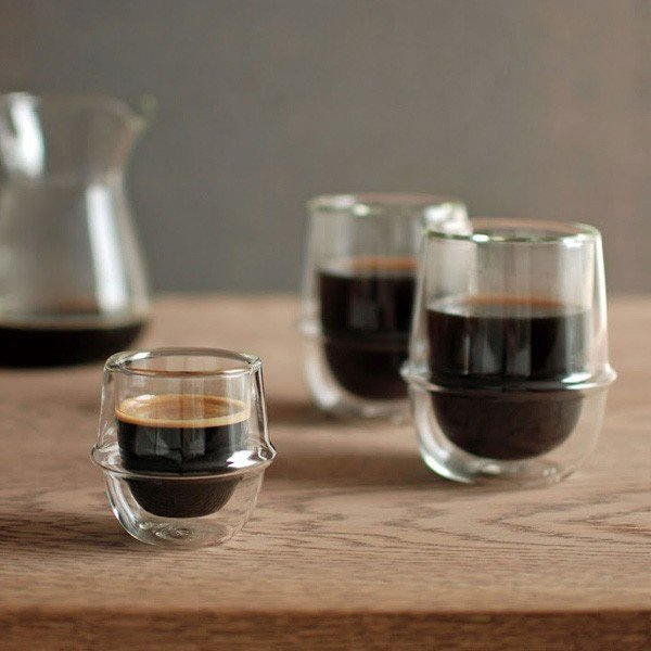 KINTO クロノス KRONOS ダブルウォール エスプレッソカップ 保温 保冷 二重構造 ガラス製 カップ コップ マグ デザートカップ グラス|gita|02