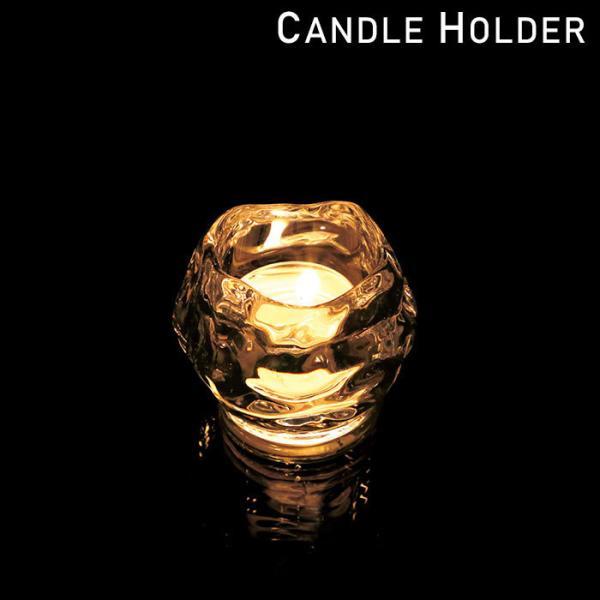 キャンドルホルダー ガラス キャンドルグラス キャンドルスタンド ロックアイス SJ5500000 ろうそく立て アロマ 香り ろうそく キャンドル