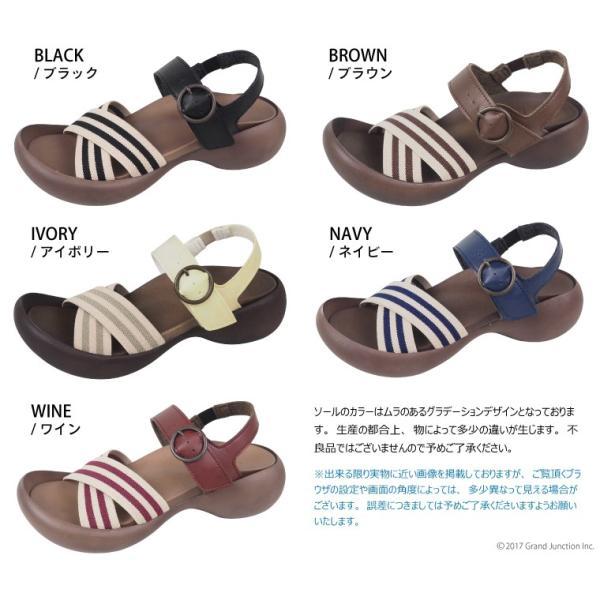 リゲッタカヌー レディース サンダル ゴムストライプ ベルト sandal|gjweb|02