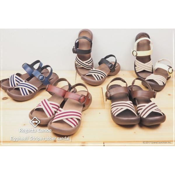 リゲッタカヌー レディース サンダル ゴムストライプ ベルト sandal|gjweb|08