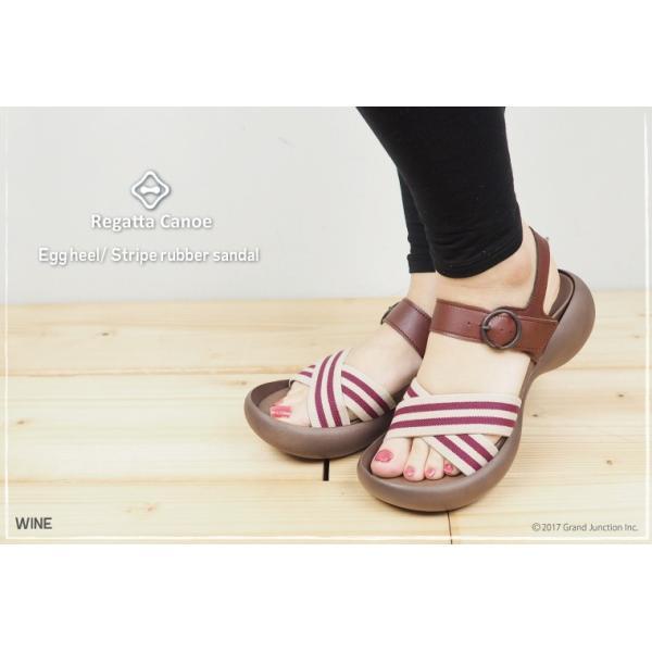 リゲッタカヌー レディース サンダル ゴムストライプ ベルト sandal|gjweb|10