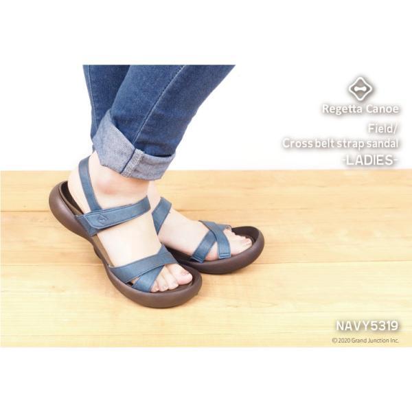 リゲッタカヌー サンダル レディース 履きやすい ぺたんこ おしゃれ デニム 調 ベルクロ sandal|gjweb|05