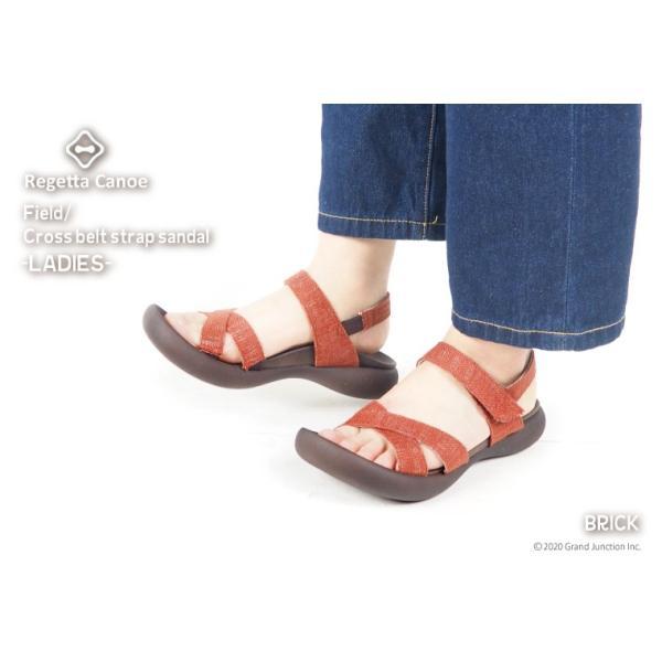 リゲッタカヌー サンダル レディース 履きやすい ぺたんこ おしゃれ デニム 調 ベルクロ sandal|gjweb|06