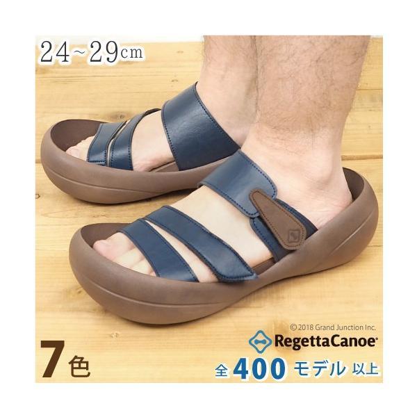 リゲッタカヌー サンダル メンズ おしゃれ ベルト マジックテープ PU 素材 sandal|gjweb