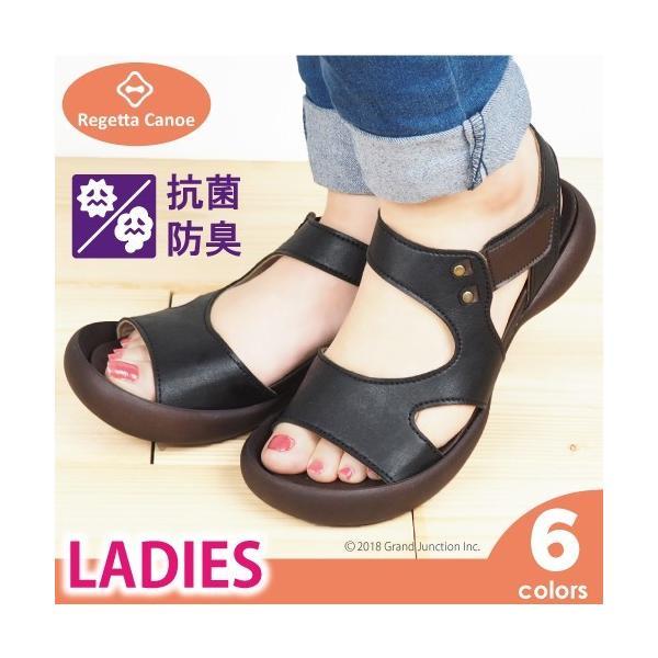 リゲッタ カヌー サンダル レディース 履きやすい ぺたんこ デザイン ベルクロ ストラップ sandal|gjweb
