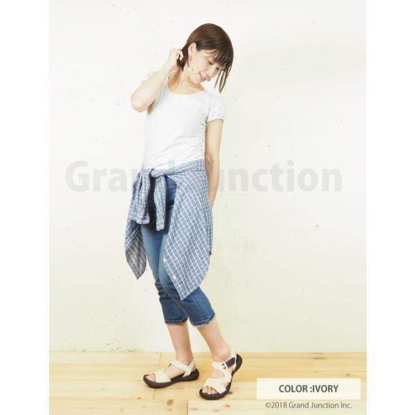 リゲッタ カヌー サンダル レディース 履きやすい ぺたんこ デザイン ベルクロ ストラップ sandal|gjweb|02
