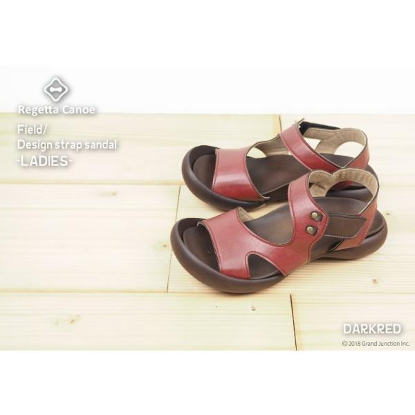 リゲッタ カヌー サンダル レディース 履きやすい ぺたんこ デザイン ベルクロ ストラップ sandal|gjweb|11