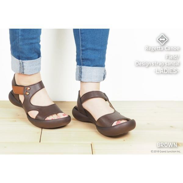 リゲッタ カヌー サンダル レディース 履きやすい ぺたんこ デザイン ベルクロ ストラップ sandal|gjweb|12