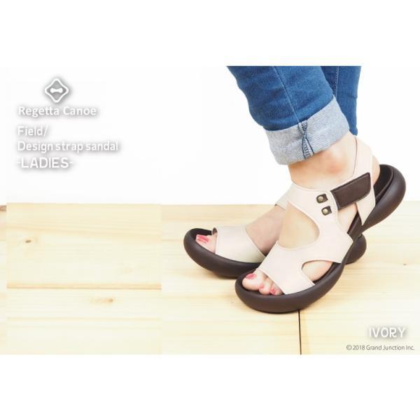 リゲッタ カヌー サンダル レディース 履きやすい ぺたんこ デザイン ベルクロ ストラップ sandal|gjweb|13