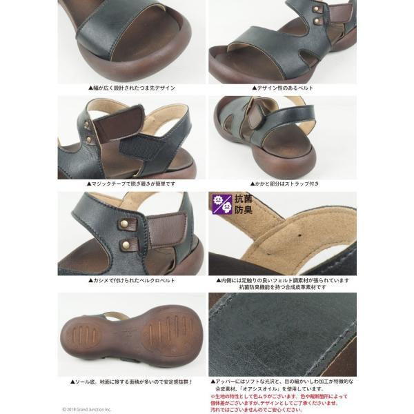 リゲッタ カヌー サンダル レディース 履きやすい ぺたんこ デザイン ベルクロ ストラップ sandal|gjweb|16