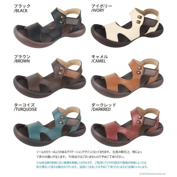 リゲッタ カヌー サンダル レディース 履きやすい ぺたんこ デザイン ベルクロ ストラップ sandal|gjweb|21