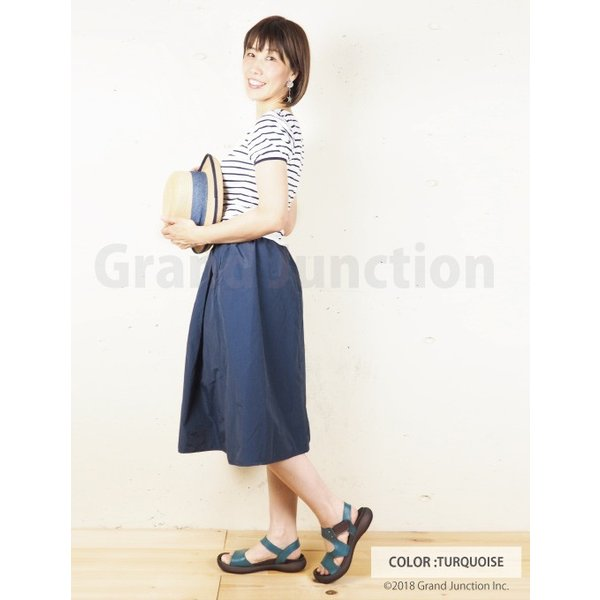 リゲッタ カヌー サンダル レディース 履きやすい ぺたんこ デザイン ベルクロ ストラップ sandal|gjweb|06