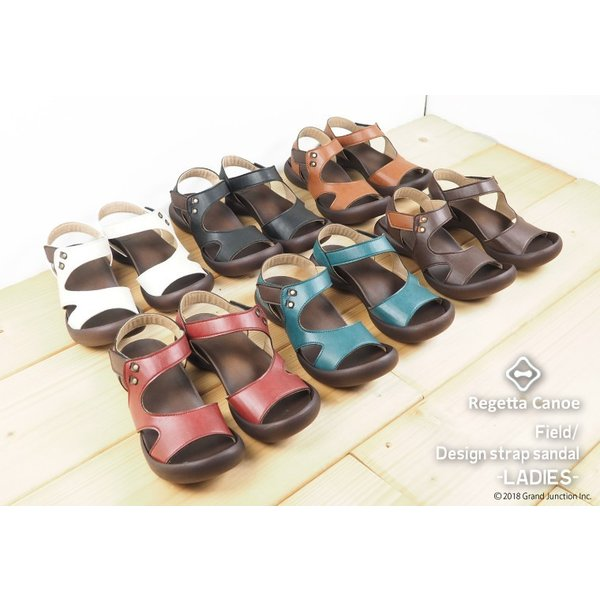 リゲッタ カヌー サンダル レディース 履きやすい ぺたんこ デザイン ベルクロ ストラップ sandal|gjweb|07