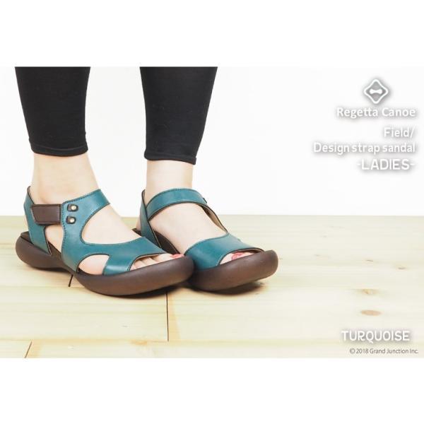 リゲッタ カヌー サンダル レディース 履きやすい ぺたんこ デザイン ベルクロ ストラップ sandal|gjweb|08