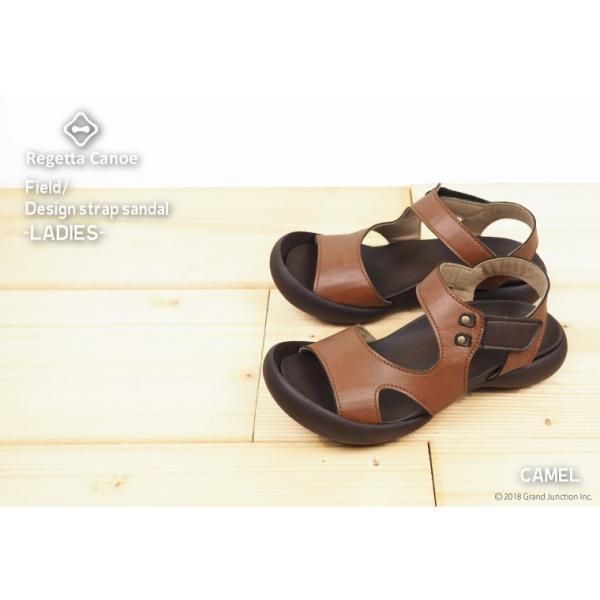 リゲッタ カヌー サンダル レディース 履きやすい ぺたんこ デザイン ベルクロ ストラップ sandal|gjweb|09