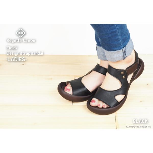 リゲッタ カヌー サンダル レディース 履きやすい ぺたんこ デザイン ベルクロ ストラップ sandal|gjweb|10