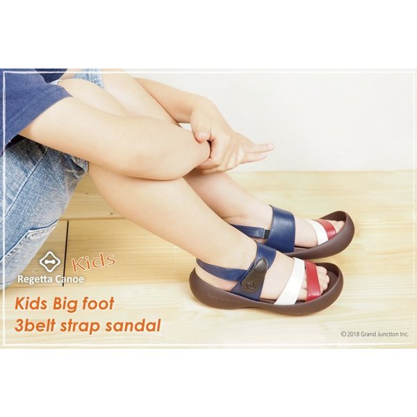リゲッタ カヌー キッズ サンダル おしゃれ 男 女 ストラップサンダル 3本 ベルト sandal|gjweb|04