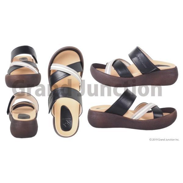 リゲッタ カヌー サンダル レディース  厚底 ウェッジソール クロス ベルト つっかけ 安定 履きやすい sandal gjweb 11