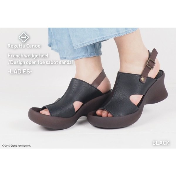リゲッタ カヌー サンダル レディース 厚底 ウェッジソール 履きやすい オープントゥ ストラップ sandal gjweb 05