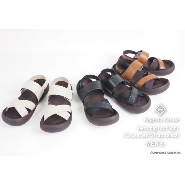 リゲッタ カヌー メンズ サンダル かかと ストラップ クロスベルト おしゃれ 歩きやすい マジックテープ sandal gjweb 02