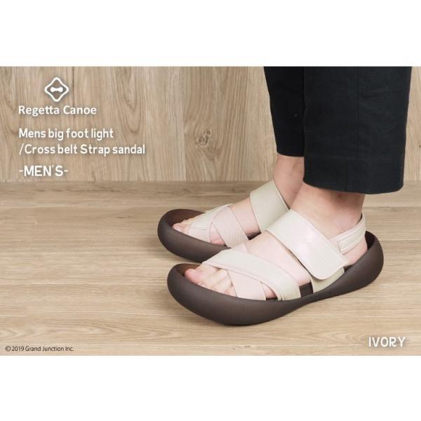 リゲッタ カヌー メンズ サンダル かかと ストラップ クロスベルト おしゃれ 歩きやすい マジックテープ sandal gjweb 03