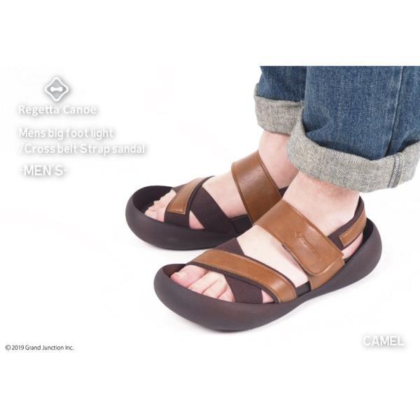 リゲッタ カヌー メンズ サンダル かかと ストラップ クロスベルト おしゃれ 歩きやすい マジックテープ sandal gjweb 05