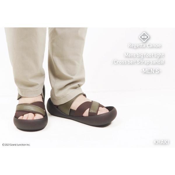 リゲッタ カヌー メンズ サンダル かかと ストラップ クロスベルト おしゃれ 歩きやすい マジックテープ sandal gjweb 06