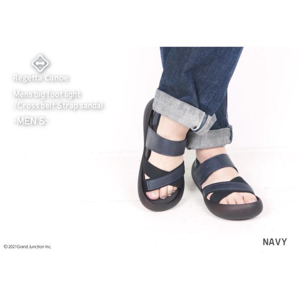 リゲッタ カヌー メンズ サンダル かかと ストラップ クロスベルト おしゃれ 歩きやすい マジックテープ sandal gjweb 07