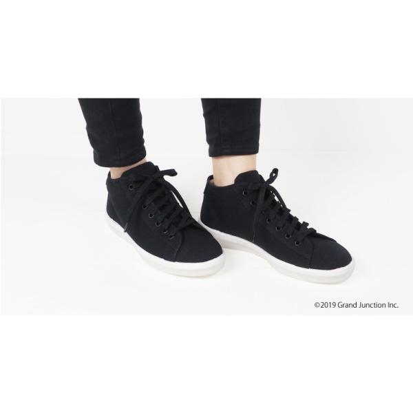 ムーンスター スニーカー メンズ レディース 白 黒 ハイカット キャンバス 日本製 RALY HI sneakers|gjweb|05