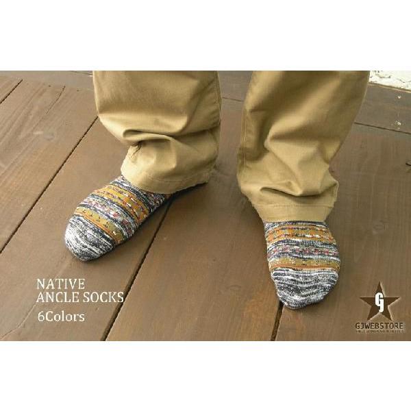 靴下 メンズ 日本製 スニーカーひきそろえネイティブくるぶしソックス gjweb 02