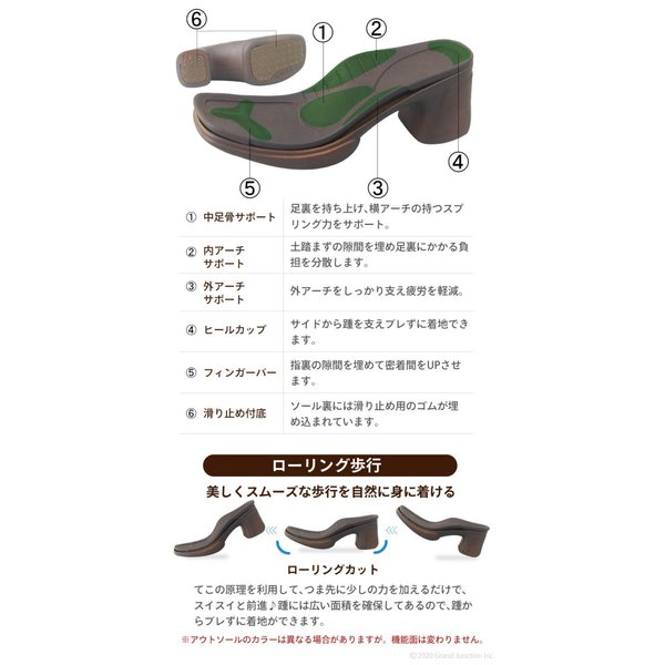 リゲッタ ナース サンダル レディース 黒 白 太ヒール ストラップ ベルト ベルクロ sandal|gjweb|13
