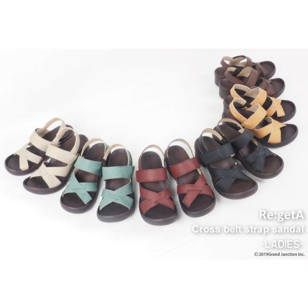 リゲッタ サンダル レディース ウェッジソール ストラップ 幅広 甲高 履きやすい ベルクロ グミ インソール sandal|gjweb|02