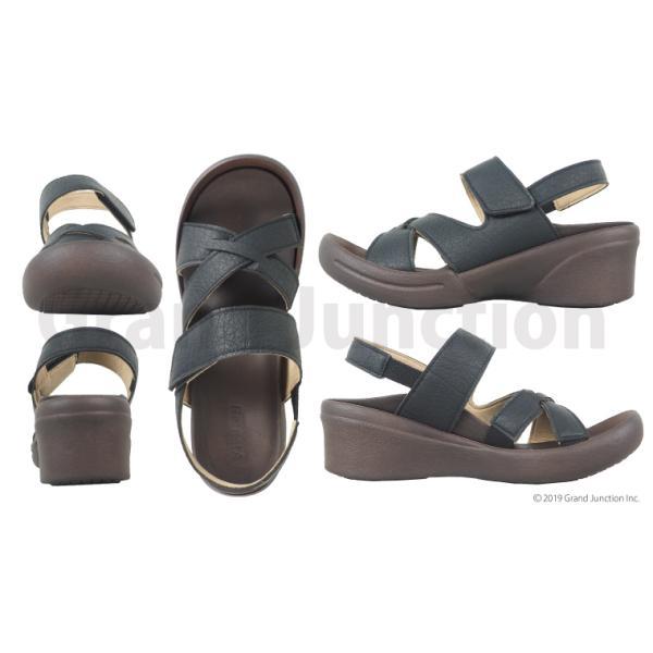 リゲッタ サンダル レディース ウェッジソール ストラップ 幅広 甲高 履きやすい ベルクロ グミ インソール sandal|gjweb|14