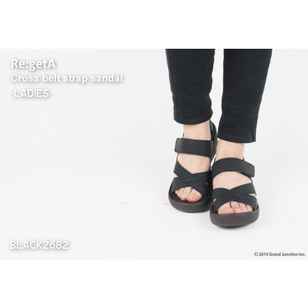 リゲッタ サンダル レディース ウェッジソール ストラップ 幅広 甲高 履きやすい ベルクロ グミ インソール sandal|gjweb|03