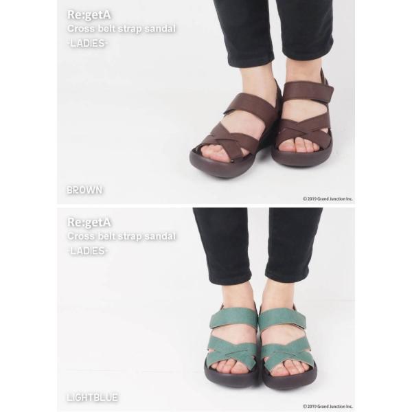 リゲッタ サンダル レディース ウェッジソール ストラップ 幅広 甲高 履きやすい ベルクロ グミ インソール sandal|gjweb|05