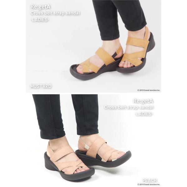 リゲッタ サンダル レディース ウェッジソール ストラップ 幅広 甲高 履きやすい ベルクロ グミ インソール sandal|gjweb|06