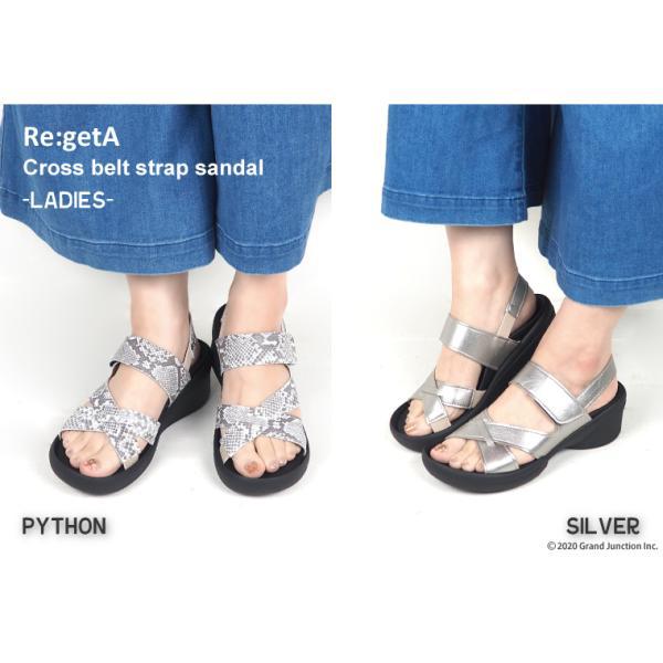 リゲッタ サンダル レディース ウェッジソール ストラップ 幅広 甲高 履きやすい ベルクロ グミ インソール sandal|gjweb|09